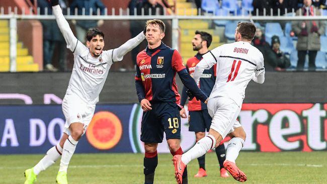 AC Milan sukses mengalahkan tuan rumah Genoa 2-0 pada laga lanjutan Liga Italia Serie Adi Stadion Luigi Ferraris, Senin (21/1) sore waktu setempat.