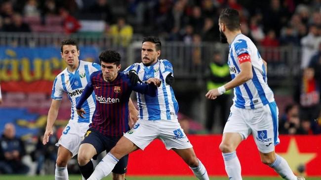 Barcelona meraih kemenangan pada pertandingan pekan ke-20 Liga Spanyol 2018/2019 menghadapi Leganes di Stadion Camp Nou, Minggu (20/1) waktu setempat.