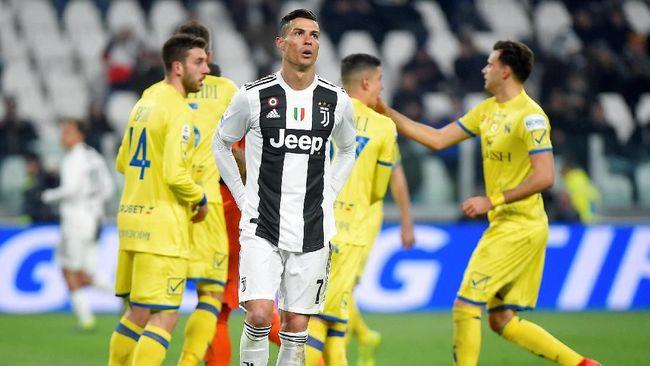 Sederet fakta unik mewarnai kemenangan Juventus atas Chievo 3-0 pada laga pekan ke-20 Liga Italia Serie A di Stadion Allianz, Senin (21/1) malam waktu setempat.