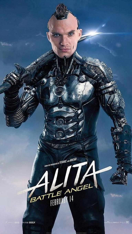 Zapan. Seorang cyborg yang memiliki tugas untuk melacak dan membunuh Alita. Karakter ini diperankan oleh Ed Skrein.