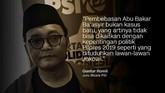 Presiden Jokowi memberi syarat untuk pembebasan bagi terpidana kasus terorisme Abu Bakar Ba'asyir.