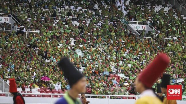 Peringatan hari Lahir (Harlah) ke-73 Muslimat Nahdlatul Ulama (NU) diperangi Minggu (27/1) Pagi di Gelora Bung Karno (GBK), Senayan, Jakarta.