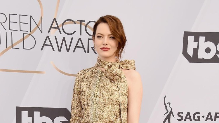 LOS ANGELES, CA - JANUARY 27:  Emma Stone attends the 25th Annual Screen Actors Guild Awards at The Shrine Auditorium on January 27, 2019 in Los Angeles, California. 480645  (Photo by Gregg DeGuire/Getty Images for Turner)