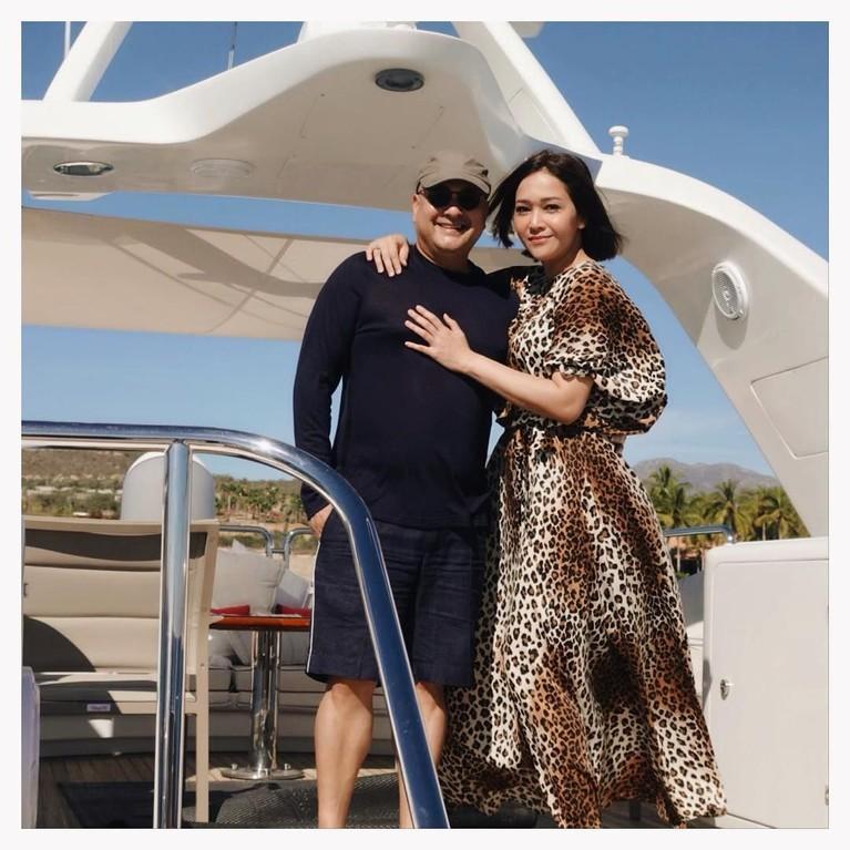 Maia Estianty merayakan ulang tahunnya dengan pelesir bersama suami ke California, Amerika Serikat.