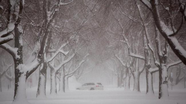 Udara dingin ekstrem dengan suhu mencapai lebih dari -30 derajat Celcius melanda bagian barat AS, menghambat kegiatan hingga bisnis.