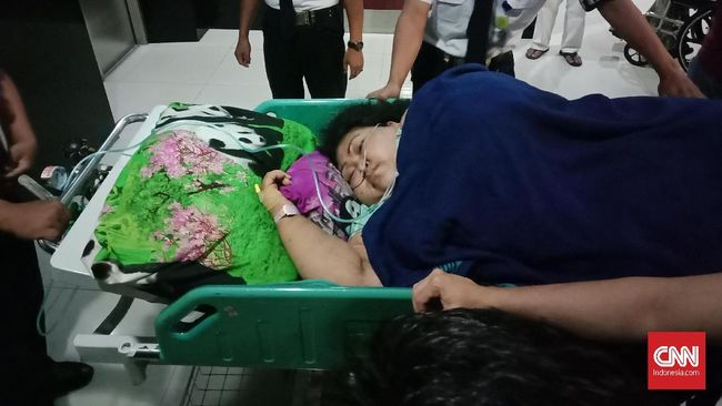 Sunarti dirawat sejak 1 Februari 2019 dan diizinkan pulang pada 1 Maret 2019.