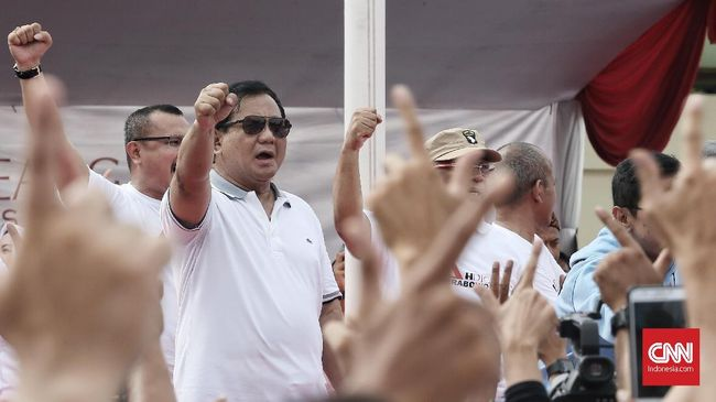 Capres Prabowo Subianto disebut akan memenuhi janji penghapus outsourcing jika terpilih jadi Presiden secara bertahap dengan melihat aturan.