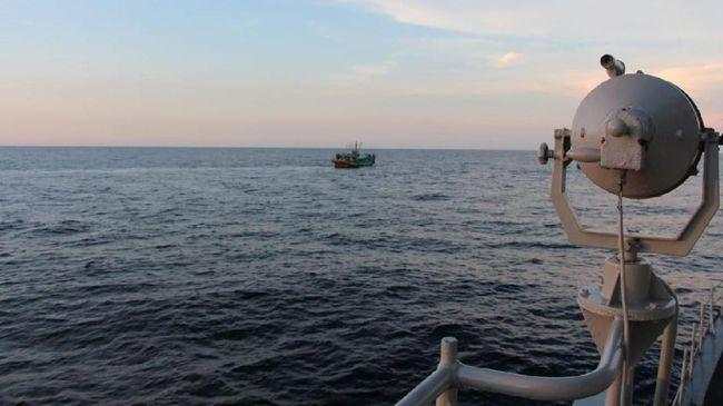 KRI Lemadang-632 Koarmada I Tangkap Kapal Ikan Asing (KIA) Malaysia Di Selat Malaka