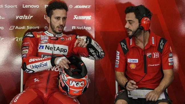 Crash di MotoGP Catalunya, Dovizioso Kecewa dan Fr