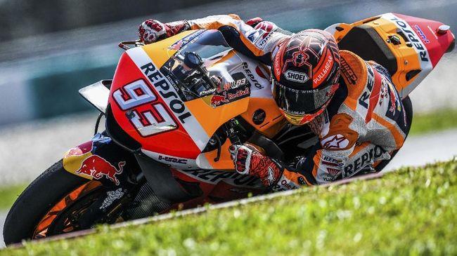 Pebalap Repsol Honda Marc Marquez merasa belum benar-benar pada kondisi 100 persen untuk kembali bersaing di lintasan balap MotoGP Qatar 2019.