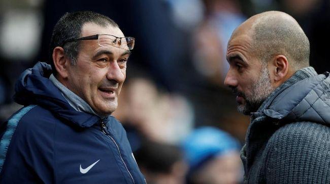 Maurizio Sarri tidak khawatir dipecat manajemen Chelsea setelah The Blues kalah 0-6 dari Manchester City pada lanjutan Liga Inggris.