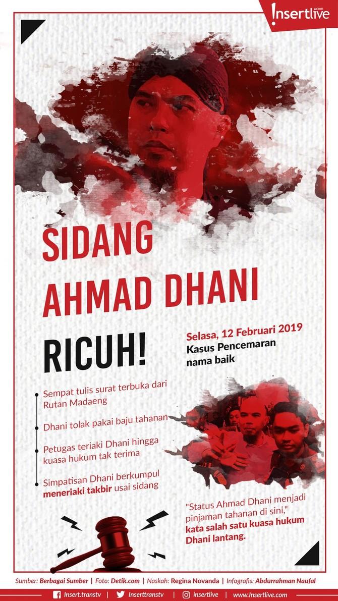 Infografis: Sidang Ahmad Dhani Ricuh!