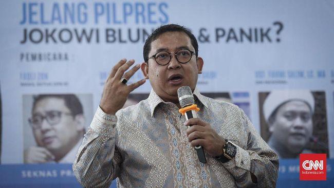 Fadli Zon mengaku miris bacaan Jokowi jauh berbeda dengan buku yang biasa dibaca para pendiri bangsa, seperti Sutan Syahrir, Bung Hatta, dan Hos Cokroaminoto.