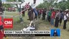 Bocah 7 tahun tewas di Pacuan Kuda