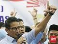 Nobar Debat dengan Relawan, Sandi Sebut Prabowo Rileks