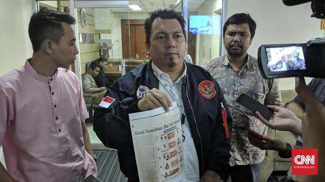 TKN Jokowi-Ma'ruf Amin melaporkan Panwaslu Kuala Lumpur Yazza Azzahra Ulyana ke DKPP karena diduga melanggar kode etik dan membuat kegaduhan.