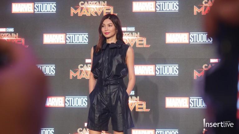 Gemma Chantampil memukau saat hadir dalam press conference Captain Marvel di Singapura,Jumat (15/2) malam. Di film Captain Marvel sendiri ia berperan sebagai Doctor Minerva.