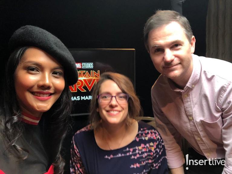 Veronika Krasnasari sebagai perwakilan Insertlive mendapat kesempatan berbincang dengan sutradara film Captain Marvel.