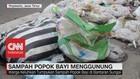 Miris! Sampah Popok Bayi Menggunung di Bantaran Sungai