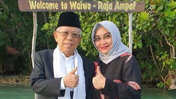 Momen Manis Kebersamaan Ma'ruf Amin dengan Istri Tercinta