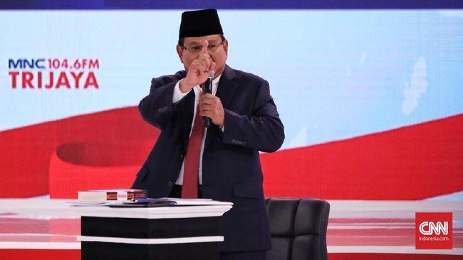 Pengamat: Sentimen Positif Prabowo Dominan Jelang Debat Ke-4