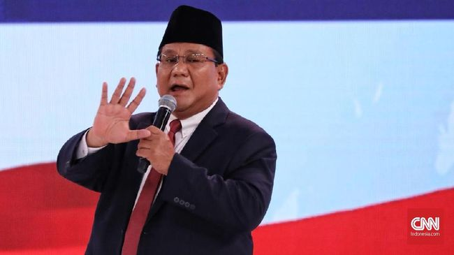 Prabowo menegaskan jika Indonesia adil dan makmur maka tidak akan ada lagi rakyat Indonesia yang bekerja sebagai tukang becak dan pelayan restoran.