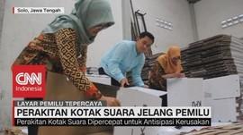 KPU Solo Mulai Merakit Kotak Suara Kardus Jelang Pemilu