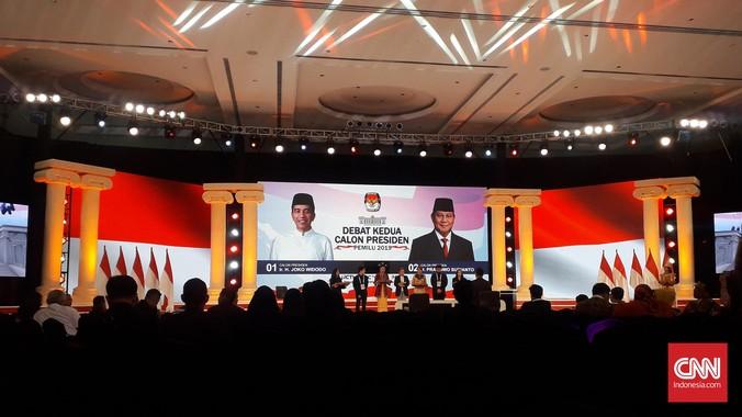 Debat capres 2019 kedua mengangkat tema energi, pangan, sumber daya alam, lingkungan hidup, infrastruktur. Debat digelar Minggu (17/2) di Hotel Sultan, Jakarta.