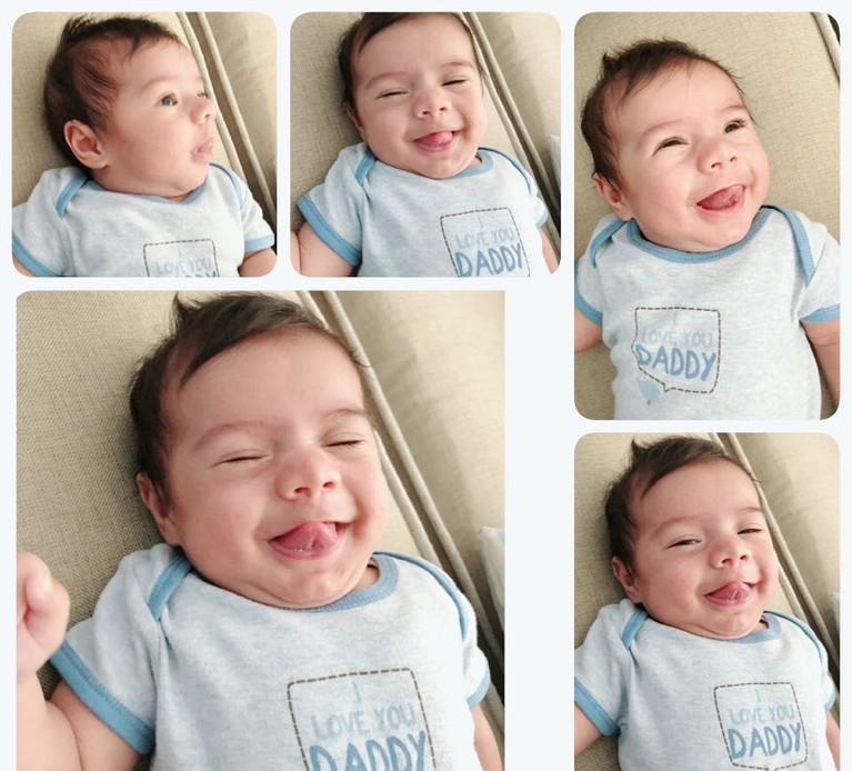 Ekspresi lucu baby Z yang selalu diabadikan Carissa Puteri di Instagram miliknya.