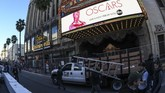 Dolby Theatre, Los Angeles, mulai bersolek menjelang malam penganugerahan Academy Awards ke-91 atau Oscar 2019 yang digelar Minggu (24/2) malam waktu AS.