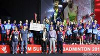 PB Mutiara Cardinal Bandung Juara Superliga Badminton Putri