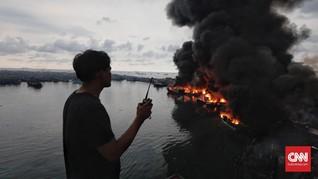 Kapal Terbakar di Perairan Maluku, 1 ABK Tewas dan 1 Hilang