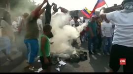 VIDEO: Warga Venezuela Rusuh Tuntut Bantuan Kemanusiaan