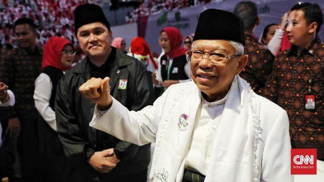 Jelang debat nanti malam, calon wakil presiden nomor urut 01 Ma'ruf Amin memilih menghabiskan waktu bersama keluarga.