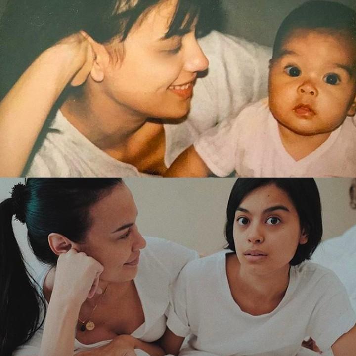 Ternyata wajah Sophia Latjuba tak banyak mengalami perubahan, tetap cantik hingga sekarang. Intip masa muda Sophia bersama Eva saat kecil.