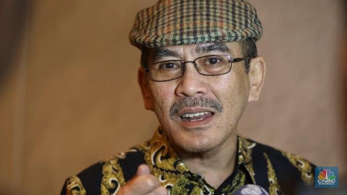 Ekonom senior, Faisal Basri saat menghadiri acara CNBC Indonesia Economic Outlook 2019. (CNBC Indonesia/Muhammad Sabki)
