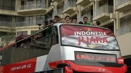 VIDEO: Arak-arakan Menyambut Prestasi Timnas Indonesia U-22