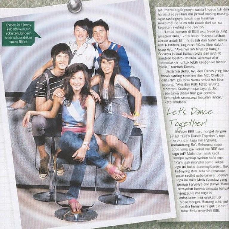 BBB lewat debut lagu Let's Dance Together ini menarik banyak perhatian publik. Apalagi mereka tampil dengan keunikan masing-masing seperti poni Ayushita yang ikonik ini.