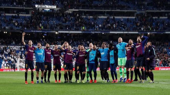 Barcelona semakin dekat dengan podium juara La Liga Spanyol 2018/2019 dan berpeluang mengangkat trofi tanpa perlu bermain pada akhir pekan nanti.