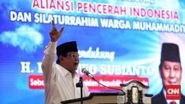 Prabowo: Indonesia Pendarahan, Hidup dari Transfusi Utang