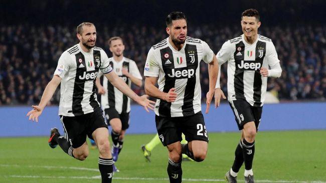 Juventus membukukan kemenangan 2-1 atas Napoli dalam lanjutan Liga Italia 2018/2019 di Stadion San Paolo, Minggu (3/3) waktu setempat.