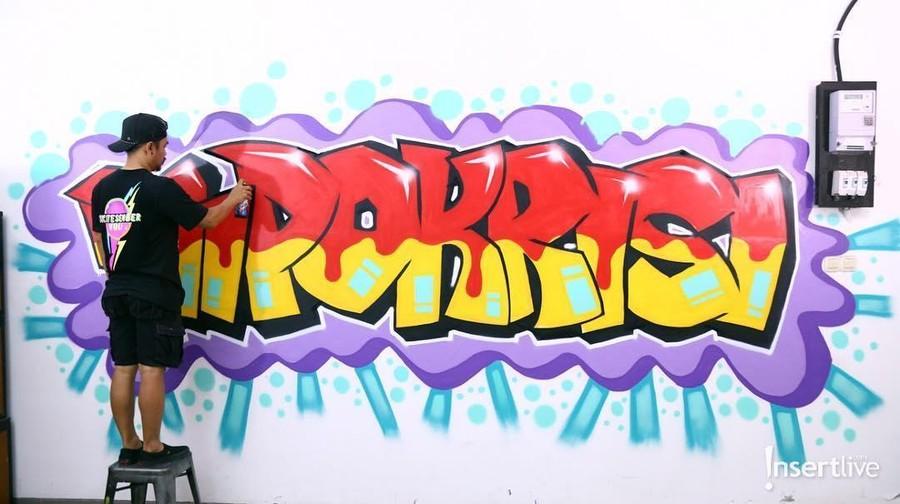 Wendy Cagur Ceritakan Hobi Mural Diikuti Sang Anak