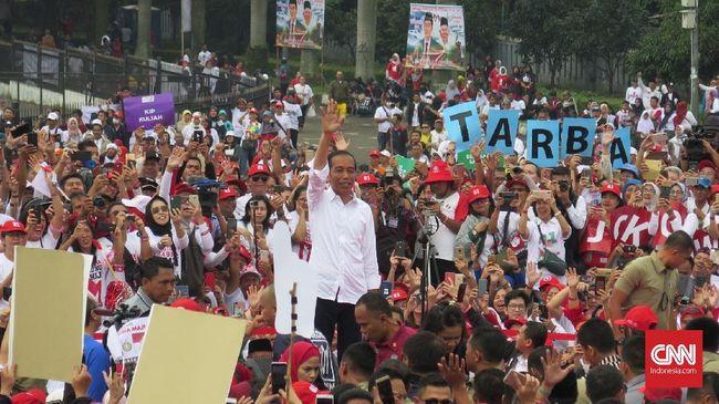 Jokowi mengajak rakyat tak mempercayakan kepemimpinan kepada orang yang tidak berpengalaman untuk memimpin negara sebesar Indonesia.