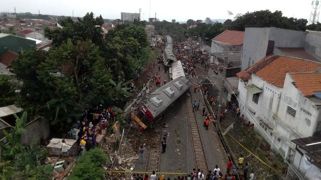 Penyebab KRL Anjlok Jakarta-Bogor di Cilebut Masih Diselidiki