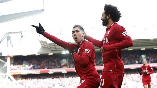 Liverpool menang 4-2 atas Burnley dalam lanjutan pertandingan Liga Primer Inggris di Stadion Anfield, Minggu (10/3).