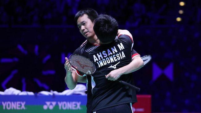 Ganda putra Indonesia, Mohammad Ahsan/Hendra Setiawan, sukses melaju ke semifinal Selandia Baru Terbuka 2019 di Auckland, Jumat (3/5).