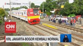 KRL Jakarta-Bogor Kembali Normal