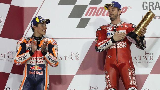 Marc Marquez enggan membahas dugaan kecurangan yang dilakukan Ducati usai Andrea Dovizioso meraih kemenangan pada balapan MotoGP Qatar 2019.