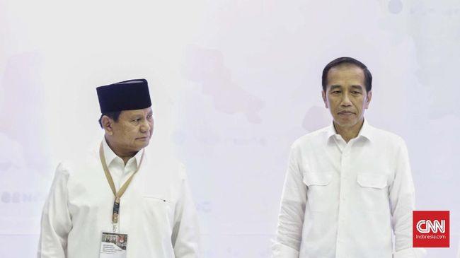Capres Jokowi menghadiri deklarasi dukungan 10.000 pengusaha, sementara capres nomor urut 02 Prabowo Subianto bertemu dengan 1.000 pengusaha.