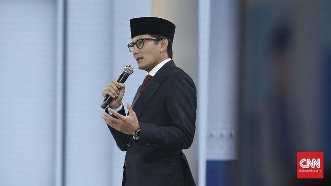 Sandiaga menyebut UN sebagai cara yang tidak berkeadilan karena pendidikan di Indonesia belum merata. Penghapusan UN dinilai sebagai langkah cegah pemborosan.